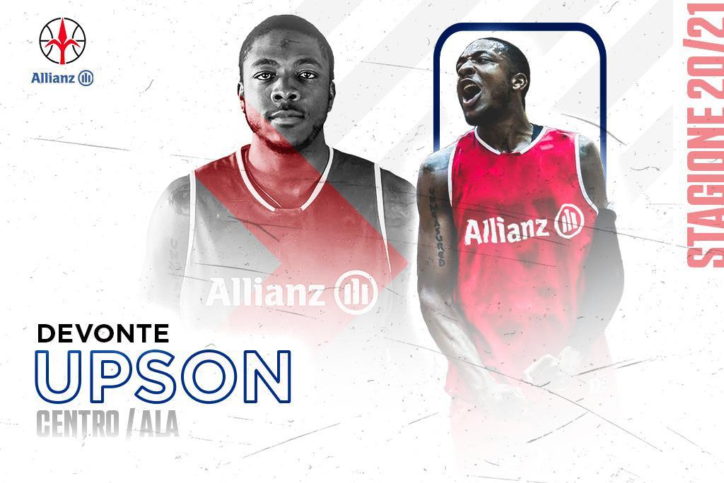Ufficiale: DeVonte Upson è il nuovo centro dell'Allianz Pallacanestro Trieste