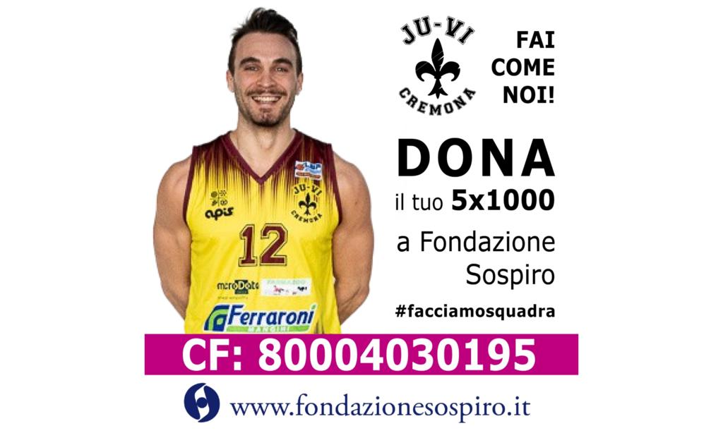 La Ferraroni JuVi Cremona sostiene la Fondazione Sospiro