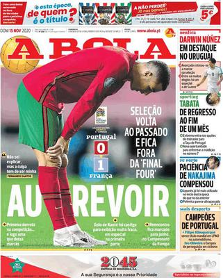 Prima pagina A Bola di domenica 15 novembre