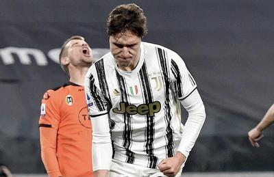 Federico Chiesa esulta in Juventus-Spezia 3-0 (Profilo social Juventus)