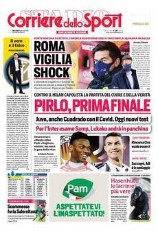 Prima pagina Corriere dello Sport  Ph. Web)