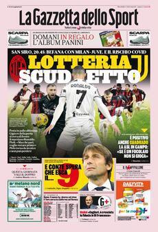 Prima pagina La Gazzetta dello Sport (Ph. Web)