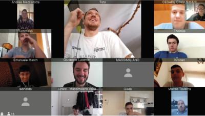 """I sette gruppi del settore giovanile a tu per tu """"virtuale"""" con i campioni e lo staff della Dolomiti Energia Trentino"""