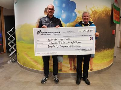 """2.500 euro a sostegno della """"Terapia dell'amicizia"""" della Fondazione Trentina per l'Autismo"""