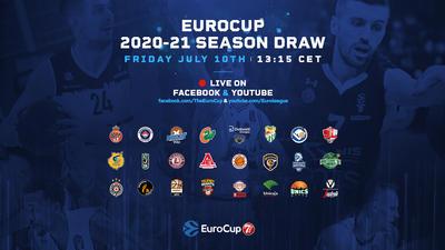 Venerdì il sorteggio del girone di EuroCup