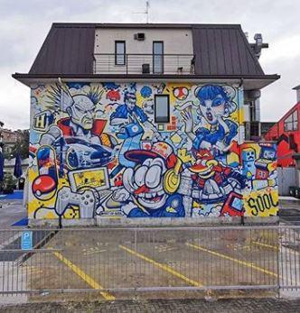 Redbull Wall @ E-Sport Palace - Bergamo  Luglio 2020