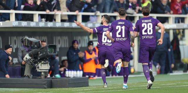 L'esultanza della Fiorentina, FOTO: FONTE WEB