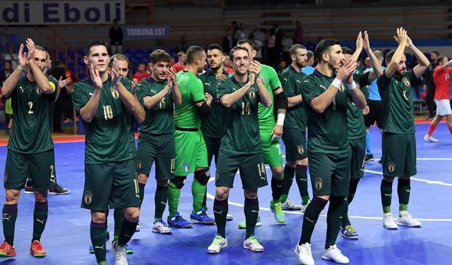 La squadra dell'Italfutsal, FOTO: FIGC.IT