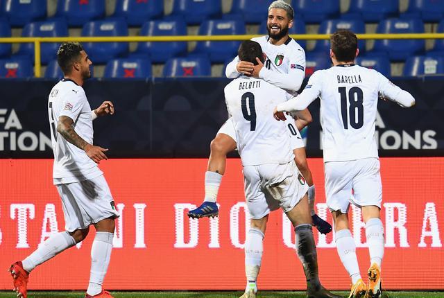 L'esultanza degli azzurri, FOTO: FIGC.IT