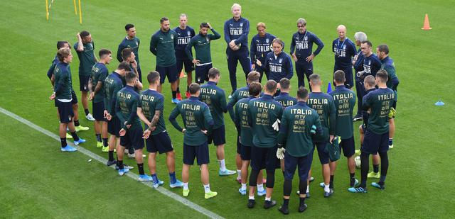 L'allenamento degli azzurri, FOTO: FIGC.IT
