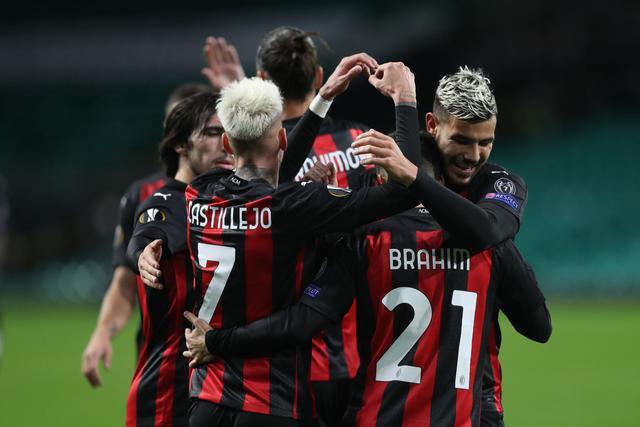 L'esultanza dei rossoneri, FOTO: UEFA.COM