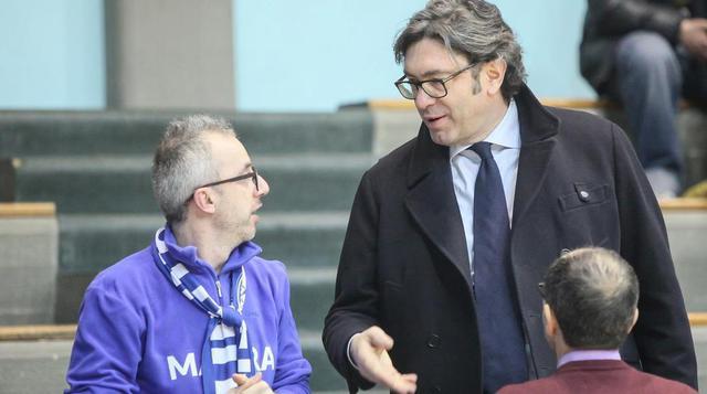 Il presidente Rocco Sassone dell'Olimpia Matera, FOTO: ROBERTO LINZALONE