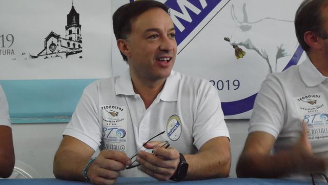 Il presidente Giuseppe Battilomo dell'Usd Matera, FOTO: TUTTOMATERA.COM