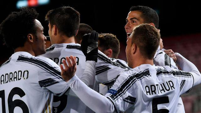 L'esultanza della Juventus, FOTO: UEFA.COM