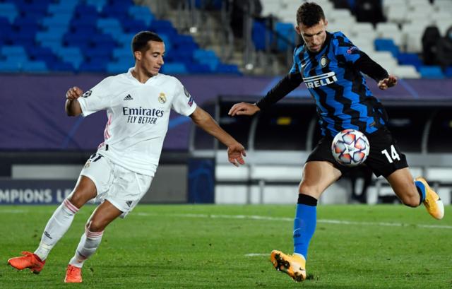 Una fase di Real Madrid-Inter, FOTO: UEFA.COM