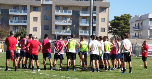 L'allenamento dei biancoazzurri, FOTO: TUTTOMATERA.COM