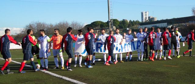 L'ingresso in campo delle due squadre, FOTO: TUTTOMATERA.COM