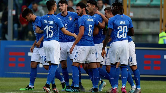 L'esultanza dell'Under 21, FOTO: FIGC.IT