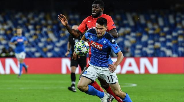 Una fase di Napoli-Salisburgo, FOTO: UEFA.COM