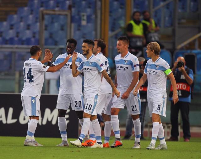 L'esultanza della Lazio, FOTO: ZIMBIO.COM