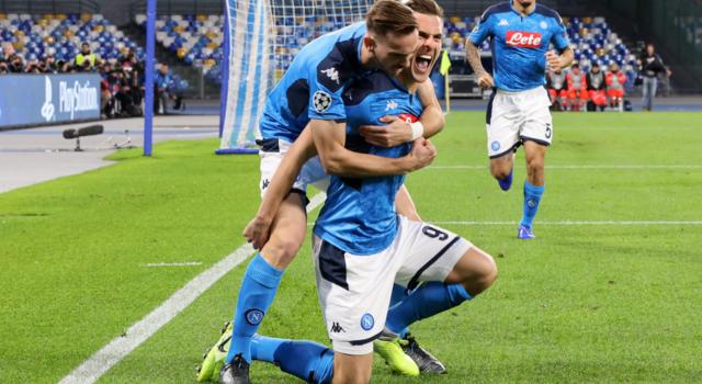 L'esultanza del Napoli, FOTO: UEFA.COM