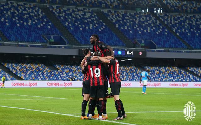 L'esultanza del Milan, FOTO: ACMILAN.COM