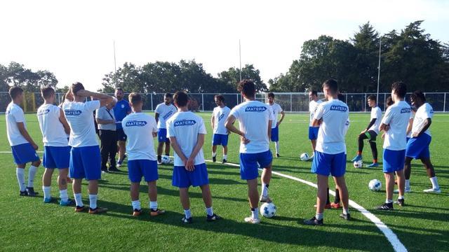 L'allenamento dei biancoazzurri, FOTO: FONTE WEB