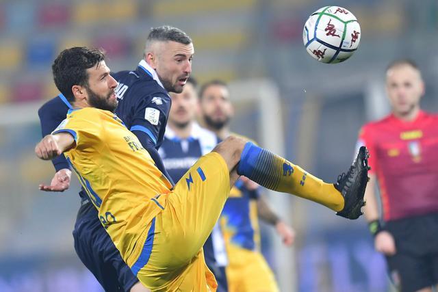 Una fase di Frosinone-Pescara di ieri sera, FOTO: FROSINONECALCIO.COM