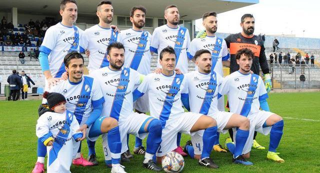 La squadra dei biancoazzurri, FOTO: SANDRO VEGLIA