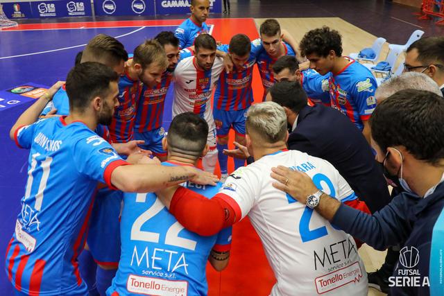 La squadra della Meta Catania, FOTO: DIVISIONECALCIOA5.IT-PAOLA LIBRALATO