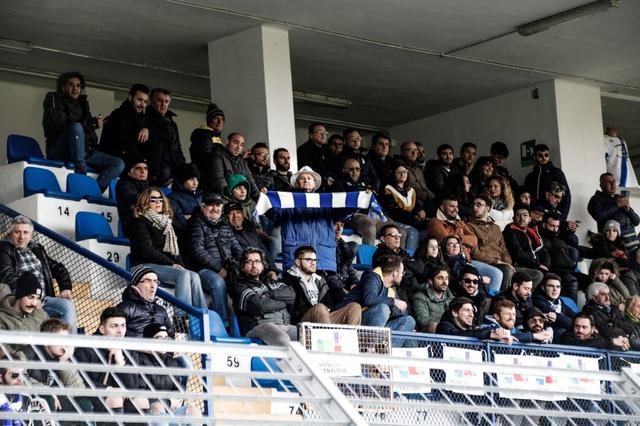 I tifosi biancoazzurri, FOTO: CARLO MAGNI