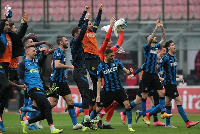 L'esultanza dell'Inter, FOTO: INTER.IT
