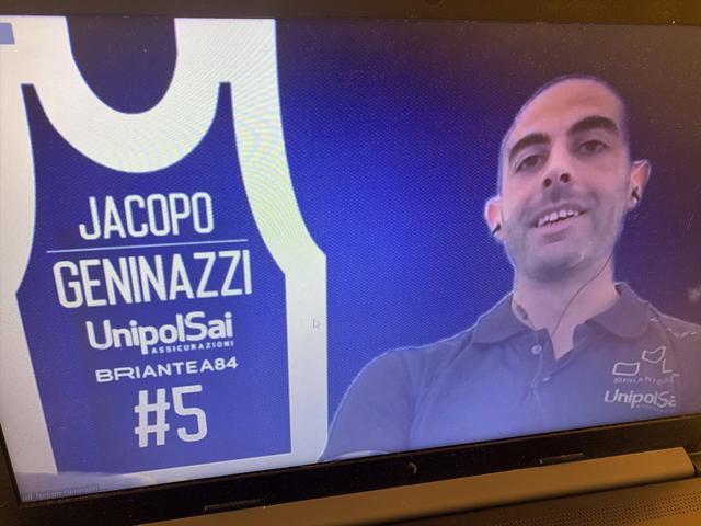 Jacopo Geninazzi, capitano della UnipolSai Briantea84 Cantù