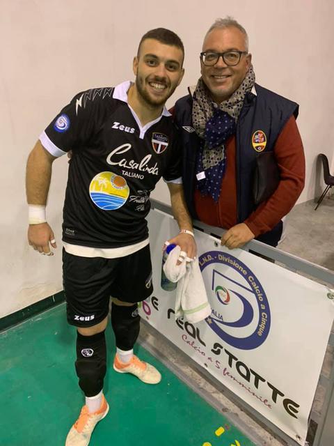 Jonathan Ventimiglia con il suo tifoso numero 1, il papà Pasquale