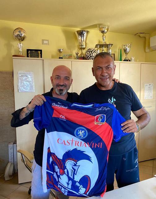 Il diesse Vincenzo Pulpito e il presidente Domenico Castria
