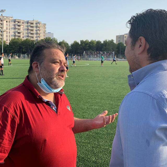 Il direttore Fabio Ancona con il presidente Giuseppe Lafratta
