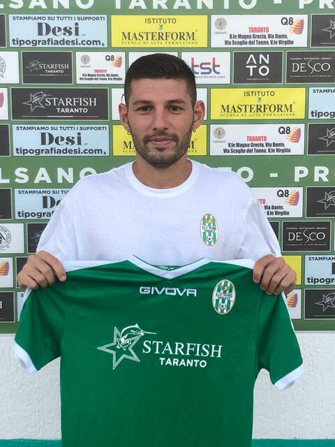 Vincenzo Cellamare, nuovo centrocampista del Talsano Taranto