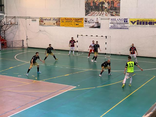 L'autore del terzo gol del Taranto Bottiglione in azione