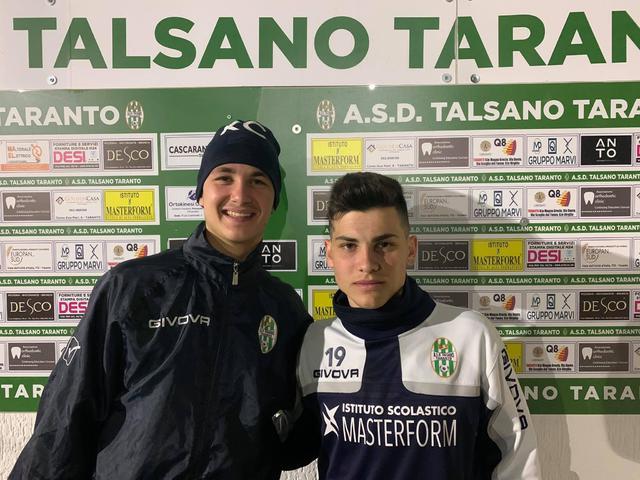 Vincenzo Kevin Capuano (a sinistra) e Raffaele Marangiolo del Talsano Taranto Juniores