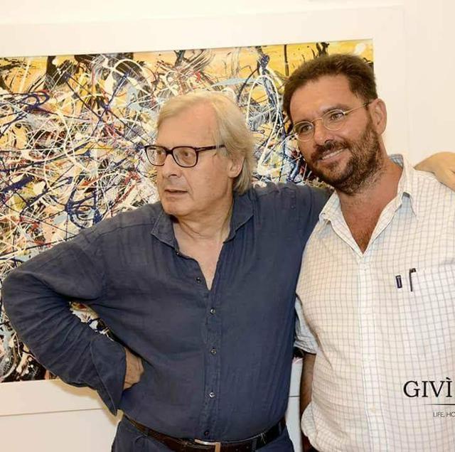 Due grandi critici d'arte: a sinistra Vittorio Sgarbi, a destra Massimo Pasqualone