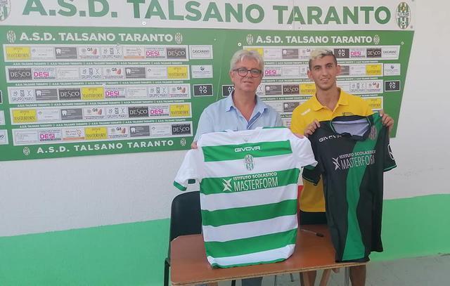 Il presidente del Talsano Taranto Giuseppe Fornaro con Cosimo Fretta