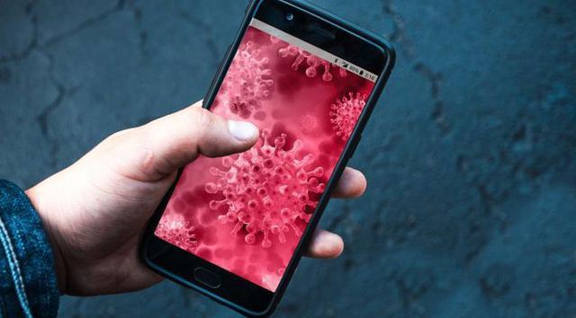 Covid-19 smartphone (Pixabay)