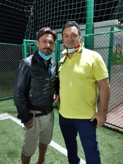 Il presidente Giuseppe Lafratta col campione Totò Schillaci