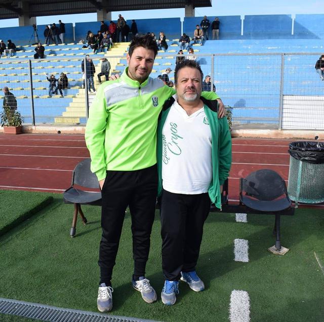 Il tecnico Lorenzo Semeraro con il direttore sportivo degli Under 17 Fabio Ancona