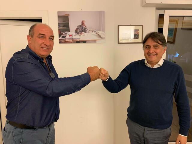 PRESIDENTI INSIEME Giuliano Di Maglie (Pattinaggio Artistico Taranto) e Fabio Tagarelli (Fondazione Taranto 25)