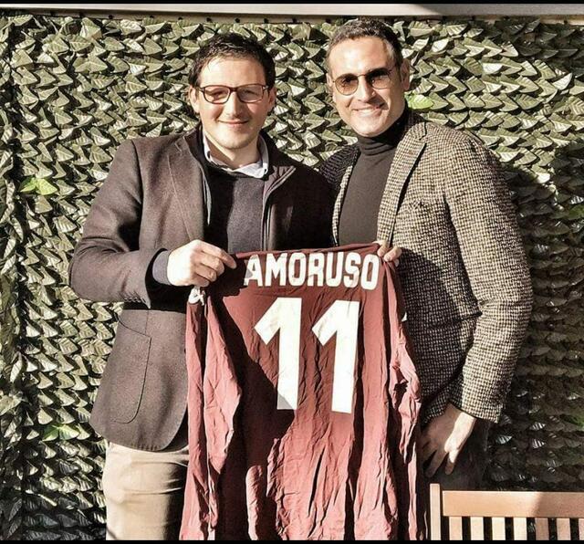 Nicola Amoruso con l'organizzatore Piergiuseppe Sapio