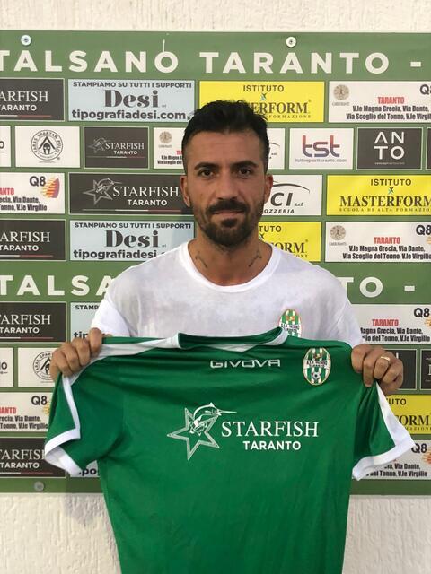 Francesco Mignogna, autore del primo gol del Talsano Taranto