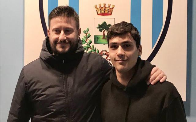 Marco Capone, dirigente del settore giovanile della Virtus Francavilla, con Antonio Ronci
