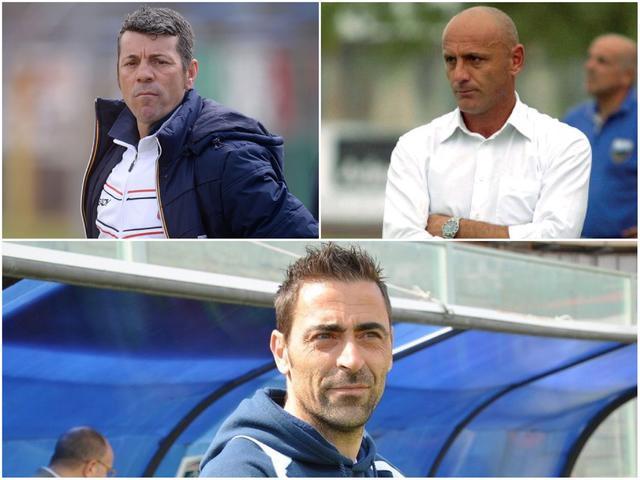 In alto, da sinistra: Salvatore Campilongo, Enzo Maiuri e Michele Cazzarò