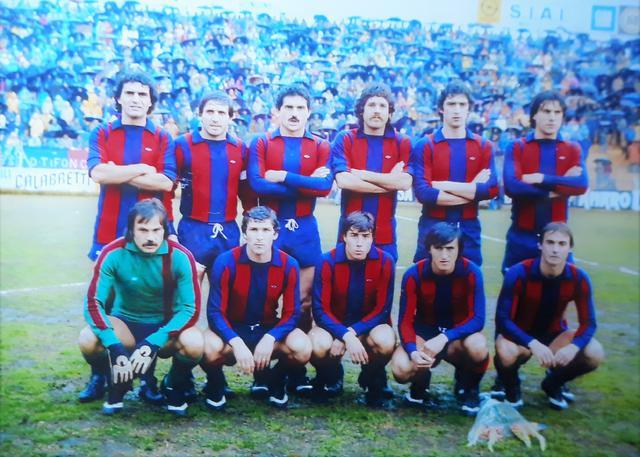 Una formazione del Taranto della stagione 1979-80